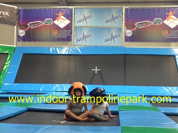 Indoor trampoline park design hajump trampolines for Indoor trampoline park design manufacturing